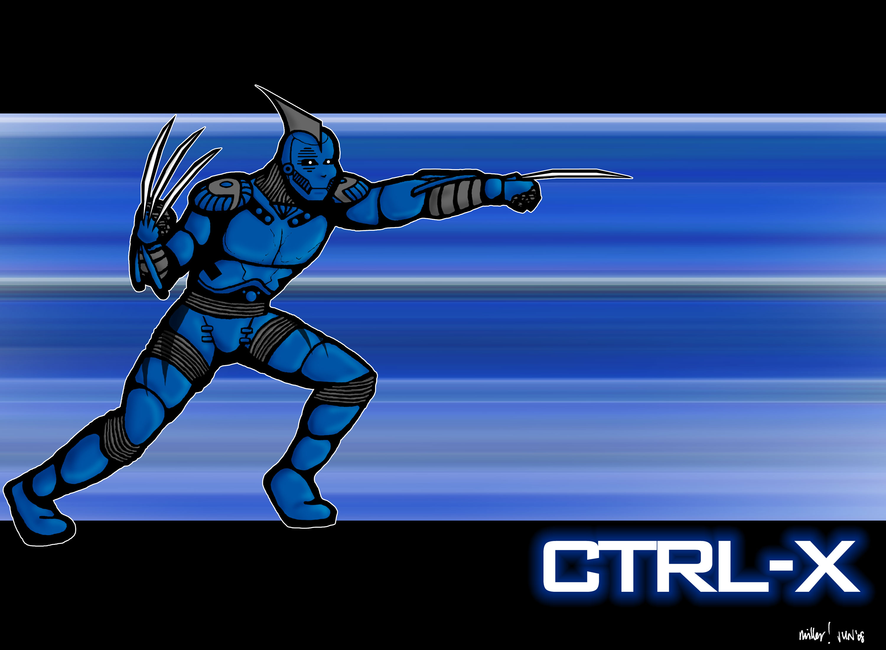 Ctrl-X advancing with claws extended.